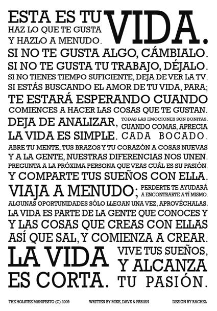 Manifiesto Holstee español